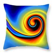 Blue Swirl Throw Pillow