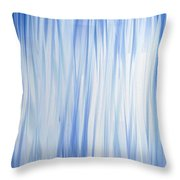 Blue Swoops Vertical Abstract Throw Pillow