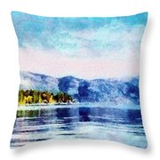 Blue Tahoe Throw Pillow