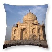 Taj Mahal In Evening Light Throw Pillow