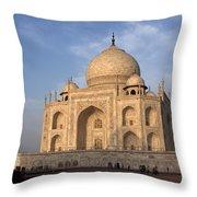 Taj Mahal In Evening Light Throw Pillow