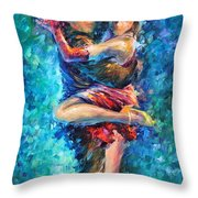 Blue Tango 1 Throw Pillow
