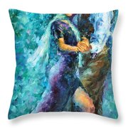 Blue Tango 3 Throw Pillow