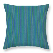 Blue Teal And Yellow Striped Textile Background Throw Pillow