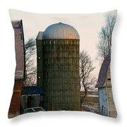 Blue Tear Farm Throw Pillow