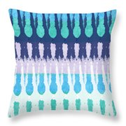 Blue Tie Dye Throw Pillow