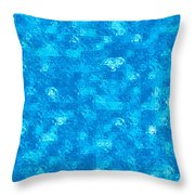 Blue Tiles Throw Pillow