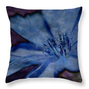 Blue Too Throw Pillow