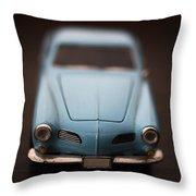 Blue Toy Car Throw Pillow