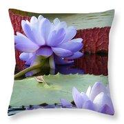 Blue Tranquillity Throw Pillow
