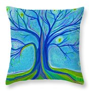 Blue Tree Sky By Jrr Throw Pillow