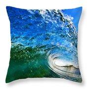 Blue Tube Throw Pillow