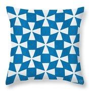 Blue Twirl Throw Pillow