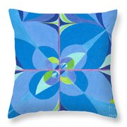 Blue Unity Throw Pillow