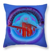 Blue Untitled Image Throw Pillow