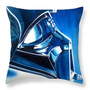 Blue Vader Throw Pillow