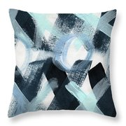 Blue Valentine- Abstract Painting Throw Pillow
