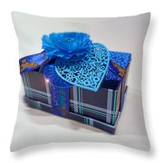 Blue Valentine Throw Pillow