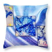 Blue Variations Throw Pillow