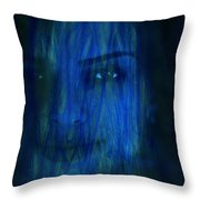 Blue Veil Throw Pillow