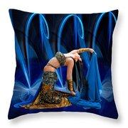 Blue Veils Throw Pillow