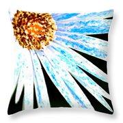 Blue Vexel Flower Throw Pillow