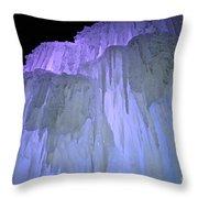 Blue Violet Ice Mountain Throw Pillow
