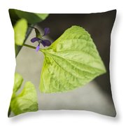 Blue Violet With Triangles Throw Pillow by Rebecca Sherman