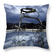 Blue Visions 5 Throw Pillow