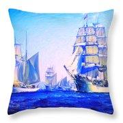 Blue Voyage To Serenity Throw Pillow