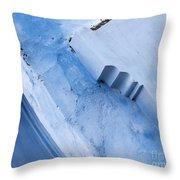 Blue Wall 03 Throw Pillow