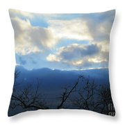 Blue Wall Clouds 4 Throw Pillow
