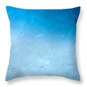 Blue Water Droplets Throw Pillow