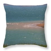 Blue Water Wilson Lake Throw Pillow