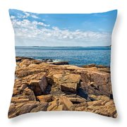 Blue Waters And Blue Skies Throw Pillow