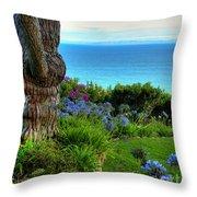 Blue Waters In Palos Verdes California Throw Pillow