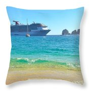 Blue Waters Of Cabo Throw Pillow