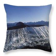 Blue Whale Tail Sea Of Cortez Throw Pillow