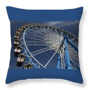 Blue Wheel In The Sky Throw Pillow