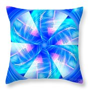 Blue Wheel Inflamed Abstract Throw Pillow