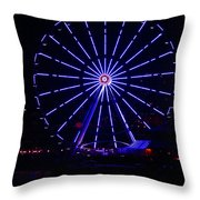 Blue Wheel Of Fortune Throw Pillow