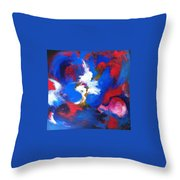 Blue Whirl Throw Pillow