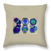Blue Who Throw Pillow