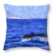 Blue Wilderness Throw Pillow