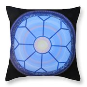 Blue Window Throw Pillow