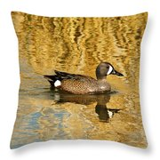 Blue Winged Teal 2 Throw Pillow