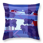 Blue Winter Farms Throw Pillow