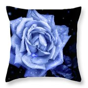 Blue Without You Throw Pillow