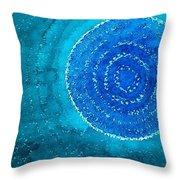 Blue World Original Painting Throw Pillow