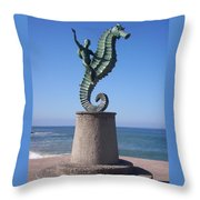 Blue Yonder Throw Pillow